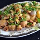 Warm, Caramelized Baby Potato & Onion Salad