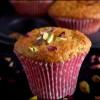 Eggless Rose Petal Jam & Cardamom Muffins