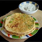 Peas Paneer Paratha