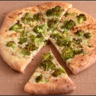 Amaranth flour Pizza topped with Broccoli