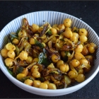 Kadala Thel Dala | Stir fried Chickpeas